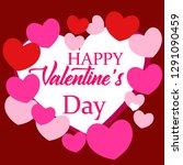 happy valentine day design... | Shutterstock .eps vector #1291090459