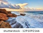 the magic of a beautiful sunset ... | Shutterstock . vector #1291092166