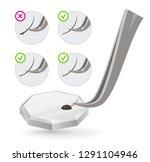 master of eyelash extensions... | Shutterstock .eps vector #1291104946