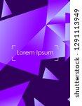 polygonal abstract illustration.... | Shutterstock .eps vector #1291113949