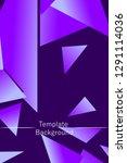 polygonal abstract illustration.... | Shutterstock .eps vector #1291114036