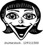 black and white vector... | Shutterstock .eps vector #129111500
