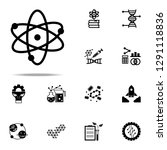 atom  atomic icon. genetics and ... | Shutterstock .eps vector #1291118836