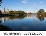 view of ibirapuera park with...   Shutterstock . vector #1291121200