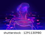 digital glitch effect in... | Shutterstock .eps vector #1291130980