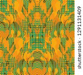 quirky tapestry pattern.... | Shutterstock .eps vector #1291131409