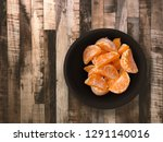 top view of many orange fruits... | Shutterstock . vector #1291140016