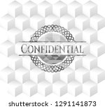confidential realistic grey... | Shutterstock .eps vector #1291141873
