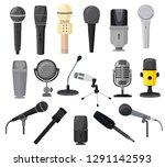 microphone vector microphones... | Shutterstock .eps vector #1291142593