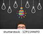 idea creative concepts with... | Shutterstock . vector #1291144693