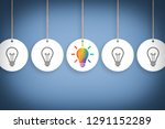 idea creative concepts with... | Shutterstock . vector #1291152289