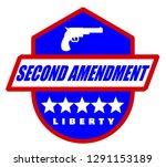 second amendment label   Shutterstock .eps vector #1291153189