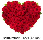 Red Roses Heart Isolated On...