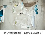 colorful torn posters on grunge ... | Shutterstock . vector #1291166053