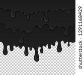 black sticky liquid seamless... | Shutterstock .eps vector #1291168429
