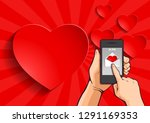 sending love message  abstract... | Shutterstock .eps vector #1291169353