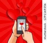 sending love message  abstract... | Shutterstock .eps vector #1291169356