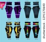 leggings set for gym | Shutterstock .eps vector #1291170640