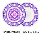 set of 2 matching decorative... | Shutterstock .eps vector #1291171519
