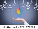 idea creative concepts with... | Shutterstock . vector #1291172923