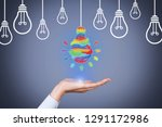 idea creative concepts with... | Shutterstock . vector #1291172986