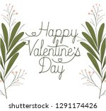 happy valennes day label with... | Shutterstock .eps vector #1291174426