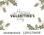 happy valennes day label with... | Shutterstock .eps vector #1291174429