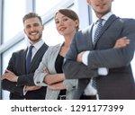 confident business team... | Shutterstock . vector #1291177399