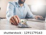 man hand money in office | Shutterstock . vector #1291179163