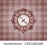 satelite icon inside red... | Shutterstock .eps vector #1291182460