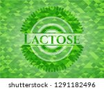 lactose green emblem with... | Shutterstock .eps vector #1291182496