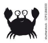 crab baby cute engraving print. ... | Shutterstock .eps vector #1291186033