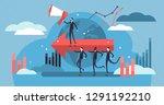 leadership vector illustration. ... | Shutterstock .eps vector #1291192210