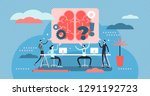 meeting vector illustration.... | Shutterstock .eps vector #1291192723