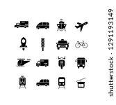 transportation set icon set...   Shutterstock .eps vector #1291193149