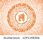 house icon inside abstract... | Shutterstock .eps vector #1291198306