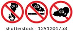 set of co2 signs don't fire no... | Shutterstock .eps vector #1291201753