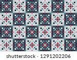 mexican pottery talavera.... | Shutterstock .eps vector #1291202206