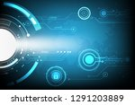 the concept of protecting data... | Shutterstock .eps vector #1291203889