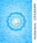 mobile phone icon inside light... | Shutterstock .eps vector #1291204399