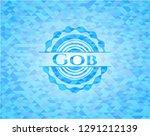 gob realistic sky blue emblem.... | Shutterstock .eps vector #1291212139