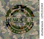 democrat on camo texture | Shutterstock .eps vector #1291212343