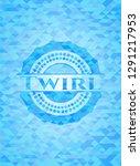 twirl sky blue emblem. mosaic... | Shutterstock .eps vector #1291217953