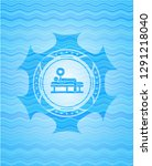 bench press icon inside water... | Shutterstock .eps vector #1291218040