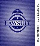 lawsuit emblem with denim high... | Shutterstock .eps vector #1291218160