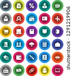 white solid icon set  copybook... | Shutterstock .eps vector #1291219906