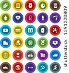 white solid icon set  barbell... | Shutterstock .eps vector #1291220809