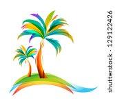 vector illustration of the palm ...   Shutterstock .eps vector #129122426