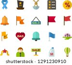 color flat icon set   easter... | Shutterstock .eps vector #1291230910