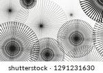 multiple black circles overlap... | Shutterstock .eps vector #1291231630
